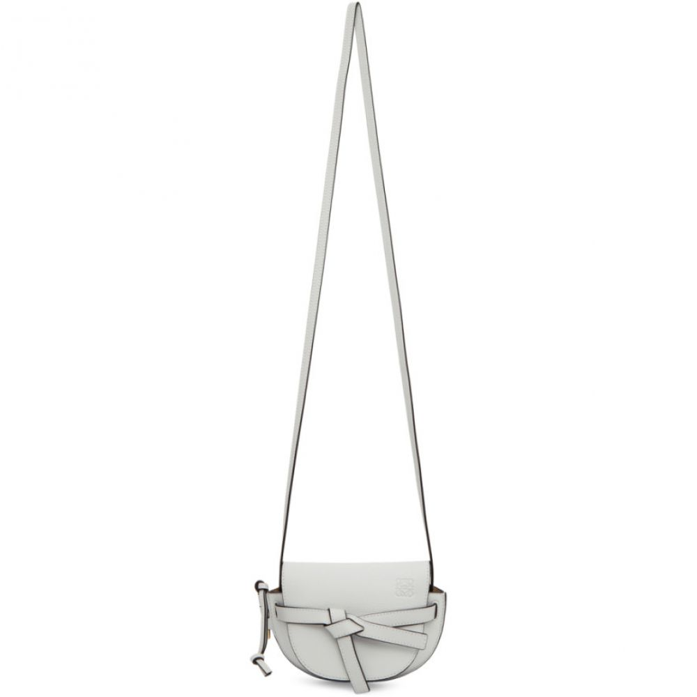 ロエベ Loewe レディース ショルダーバッグ バッグ【Grey Mini Gate Bag】Kaolin