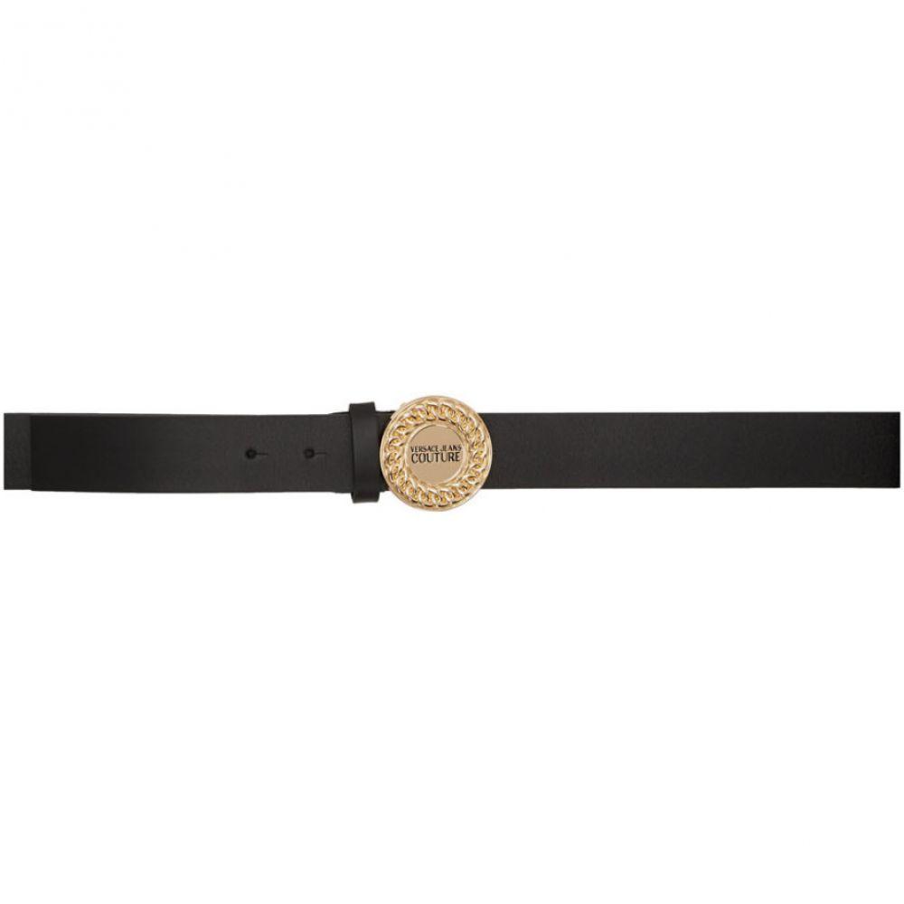 ヴェルサーチ Versace Jeans Couture レディース ベルト 【Black Chain Logo Belt】Black/Gold