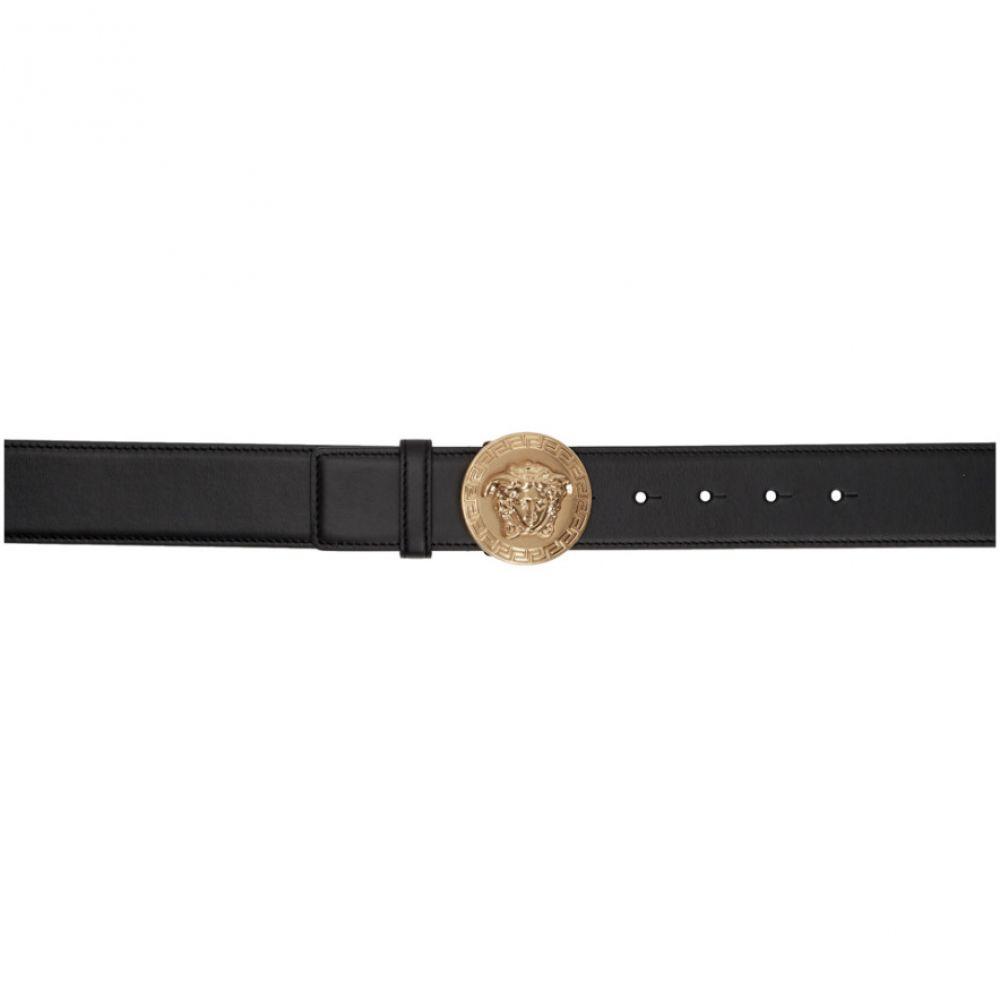 ヴェルサーチ Versace レディース ベルト メデューサ【Black Medusa Coin Belt】Black