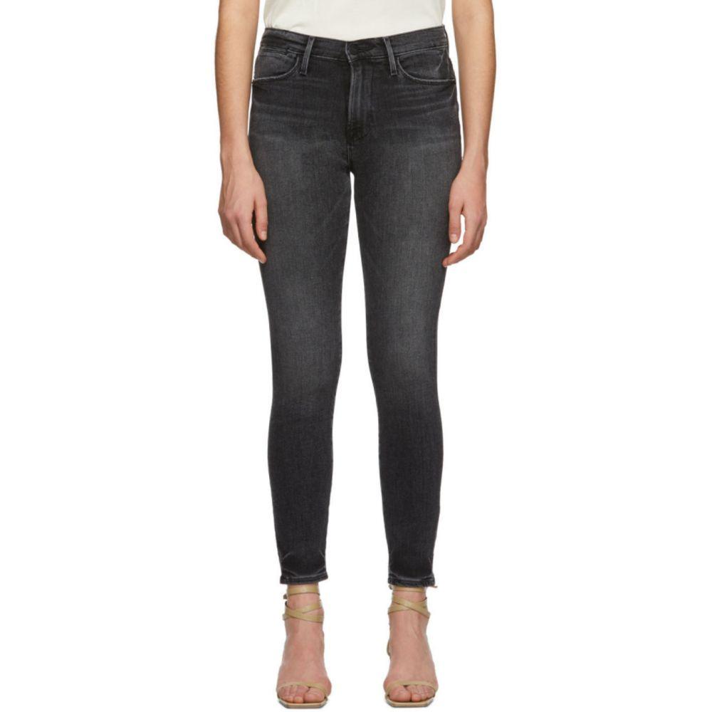フレーム Frame レディース ジーンズ・デニム ボトムス・パンツ【Black 'Le High Skinny' Jeans】Jackson peak