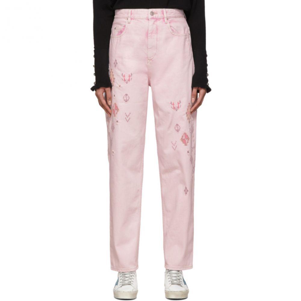 イザベル マラン Isabel Marant Etoile レディース ジーンズ・デニム ボトムス・パンツ【Pink Embroidered Corsyb Jeans】Pink
