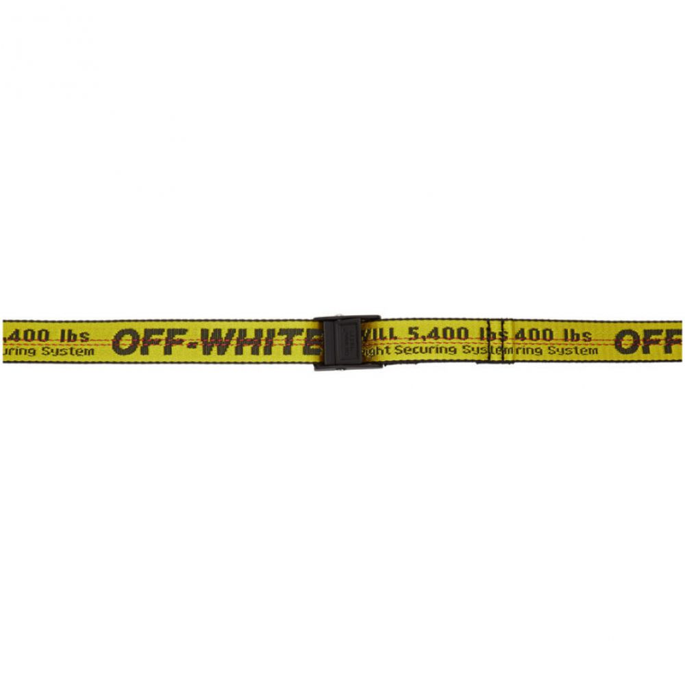 オフホワイト Off-White レディース ベルト 【Yellow & Black Mini Industrial Belt】Yellow