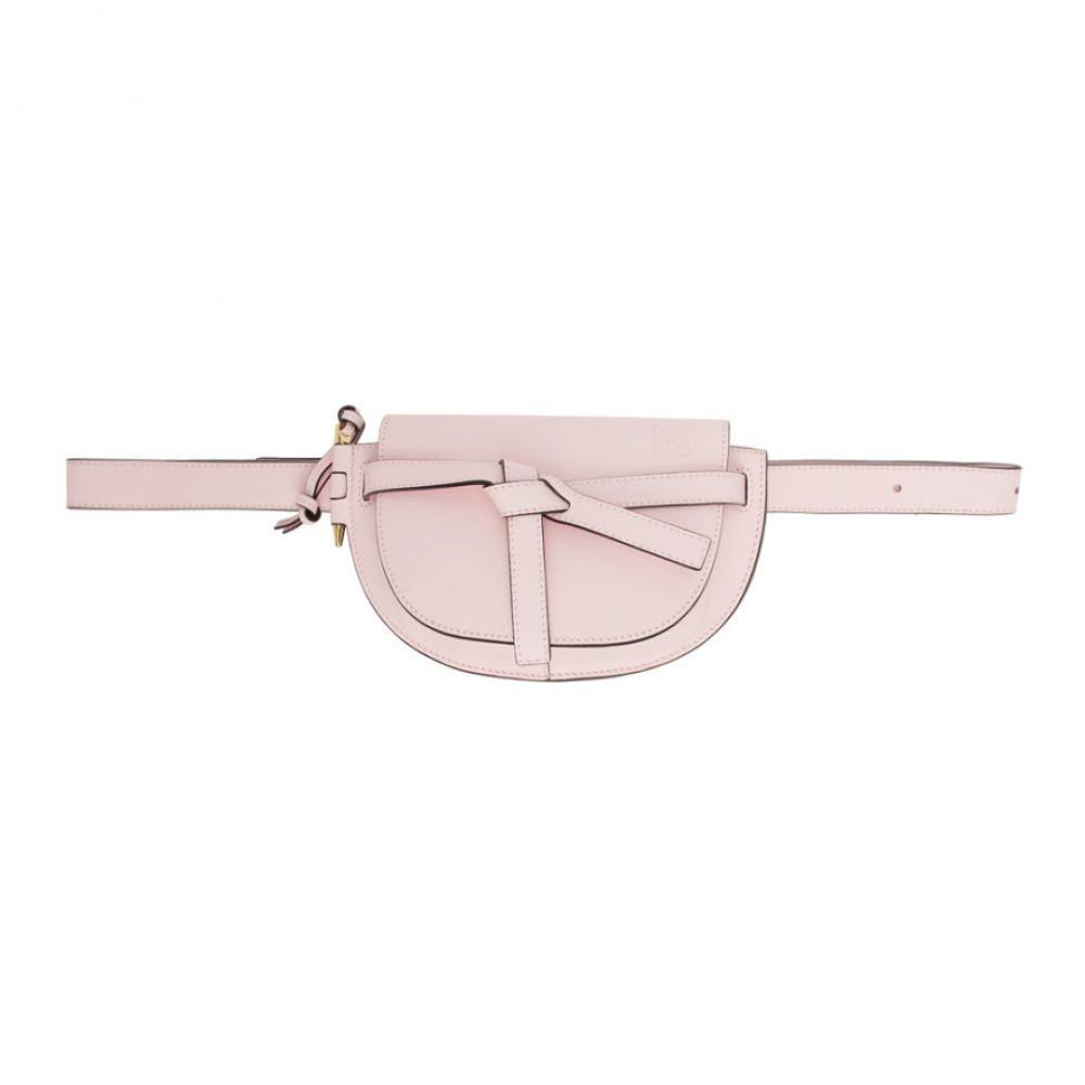 ロエベ Loewe レディース ボディバッグ・ウエストポーチ バッグ【Pink Mini Gate Bum Bag】Icy pink