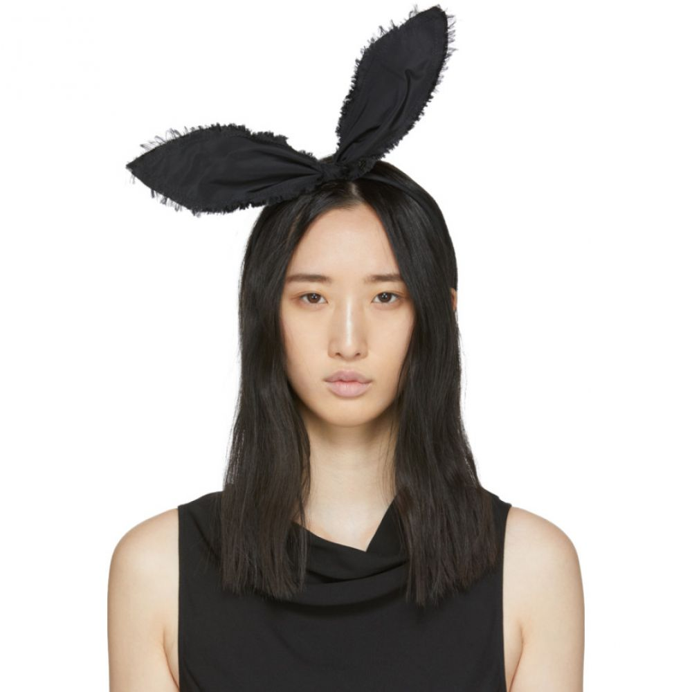 メゾンミッシェル Maison Michel レディース ヘアアクセサリー ヘッドバンド【Black Heidi Rabbit Headband】Black