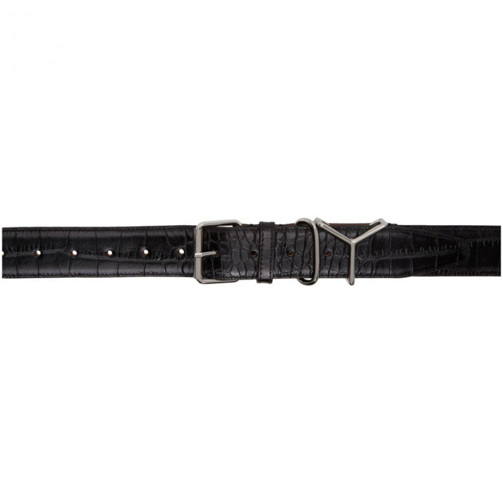 ワイプロジェクト Y/Project レディース ベルト 【Black Croc Logo Belt】Black