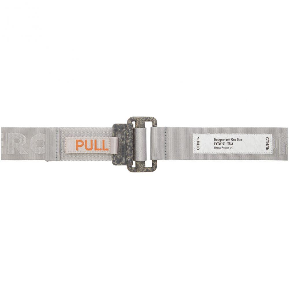 ヘロン プレストン Heron Preston レディース ベルト 【Silver Grosgrain Tape Belt】Ice grey/Concrete