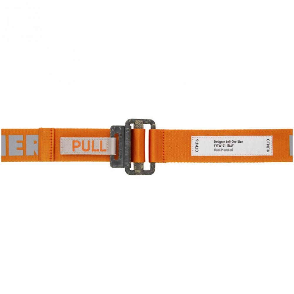 ヘロン プレストン Heron Preston レディース ベルト 【Orange KK Tape Belt】Orange/Medium grey