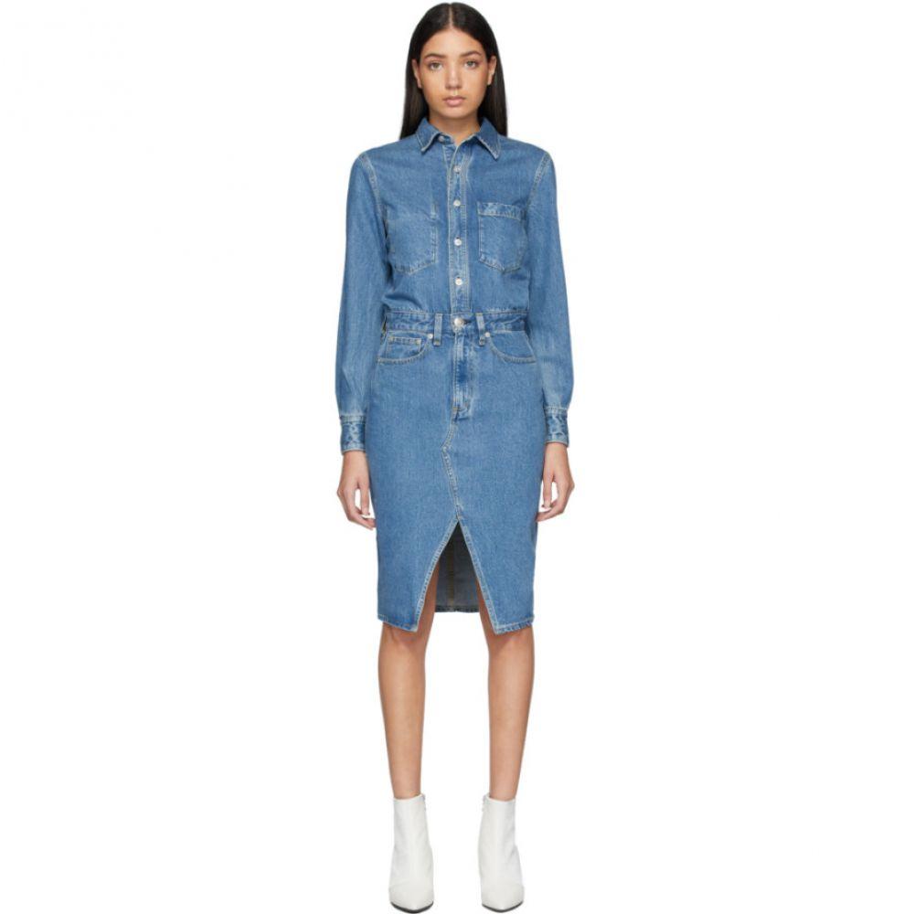 ラグ&ボーン rag & bone レディース ワンピース デニム ワンピース・ドレス【Blue Denim All-In-One Dress】Marlowe