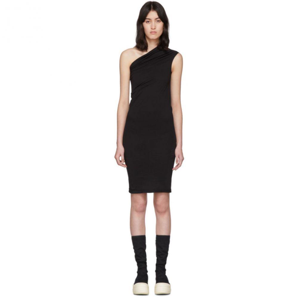 リック オウエンス Rick Owens Drkshdw レディース ワンピース チュニックドレス ワンピース・ドレス【Black One Shoulder Tunic Dress】Black