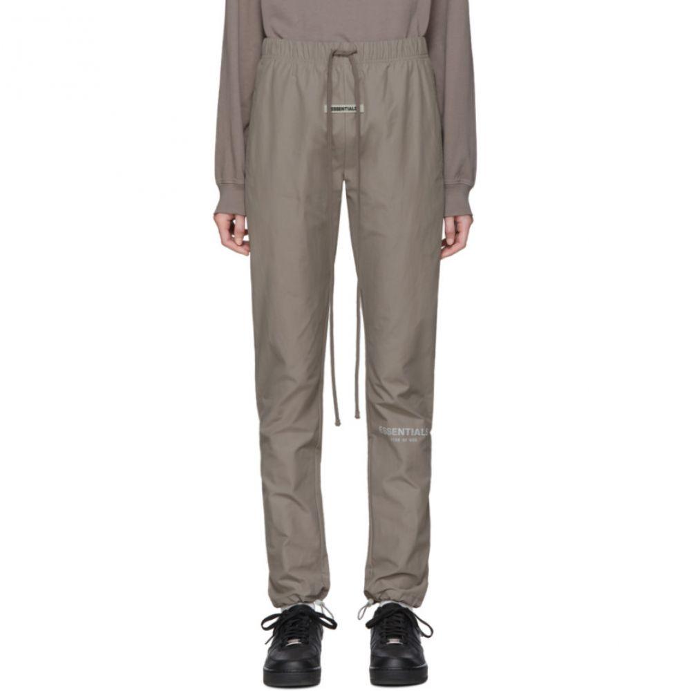 エッセンシャルズ Essentials レディース スウェット・ジャージ ボトムス・パンツ【Grey Nylon Track Pants】Grey flannel
