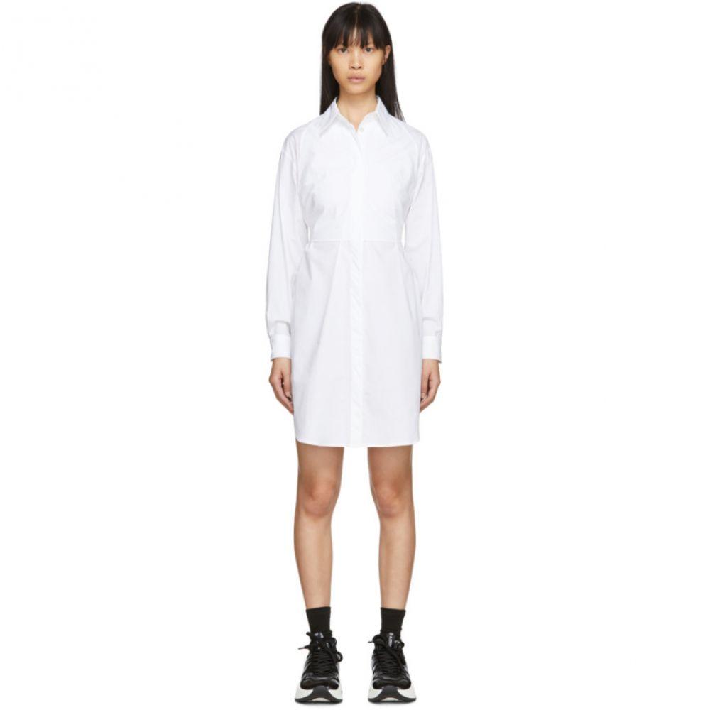 メゾン マルジェラ MM6 Maison Margiela レディース ワンピース シャツワンピース ワンピース・ドレス【White Poplin Shirt Dress】White