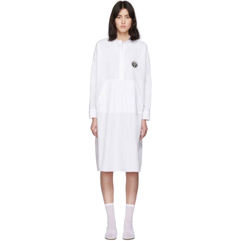 メゾン マルジェラ MM6 Maison Margiela レディース ワンピース ワンピース・ドレス【White Kangaroo Pocket Dress】White