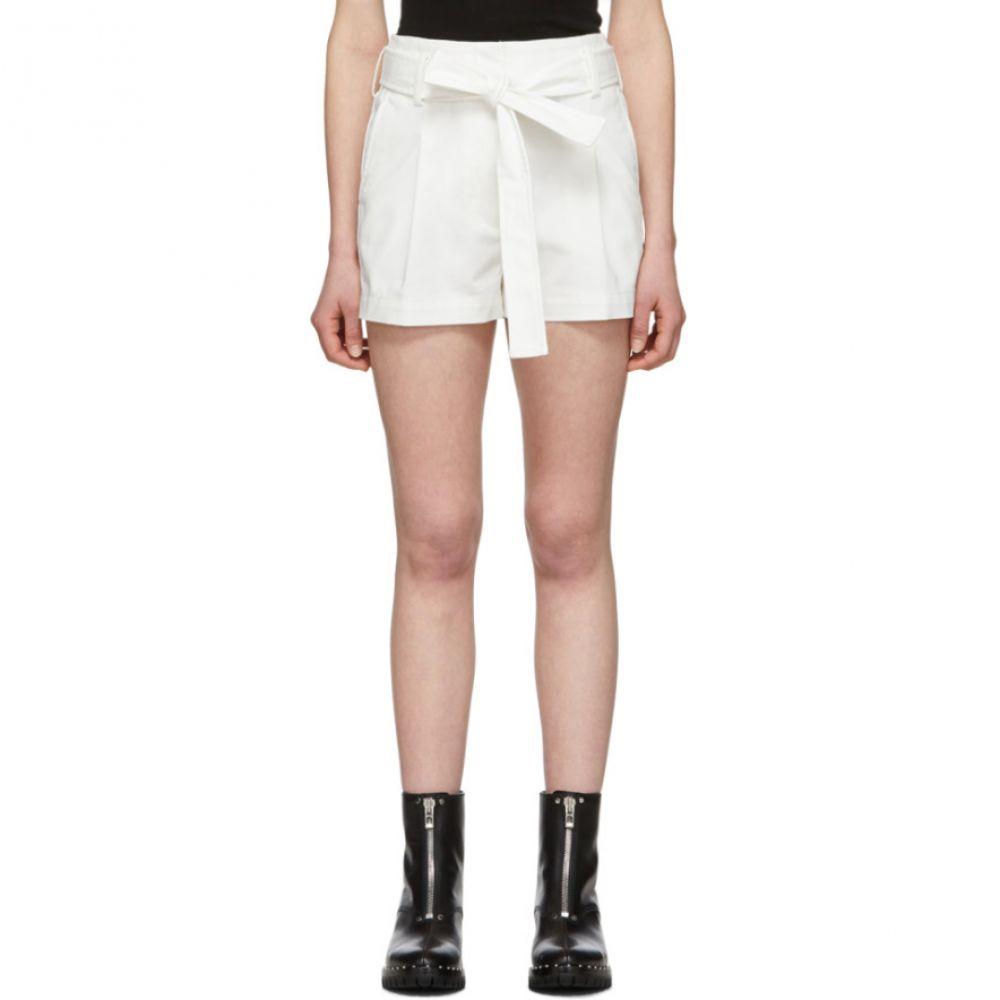 スリーワン フィリップ リム 3.1 Phillip Lim レディース ショートパンツ ボトムス・パンツ【White Belted High-Waist Shorts】White