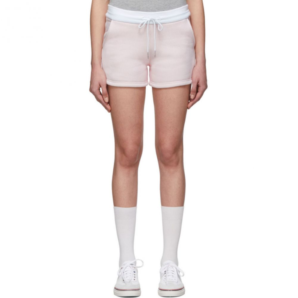 トム ブラウン Thom Browne レディース ショートパンツ ボトムス・パンツ【Pink & White Striped Shorts】Light pink