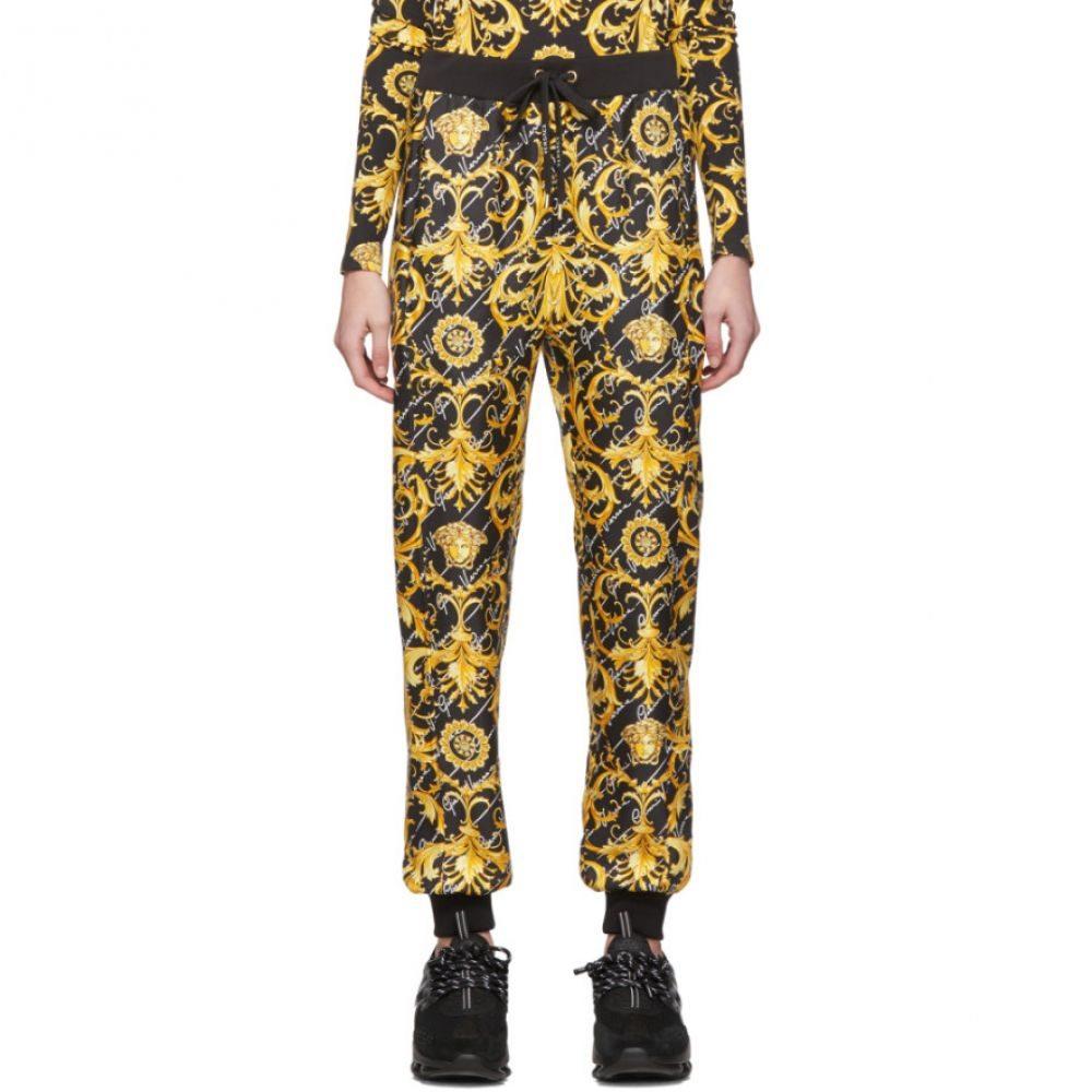 ヴェルサーチ Versace レディース ボトムス・パンツ 【Black Silk Barocco Lounge Pants】Black/Gold
