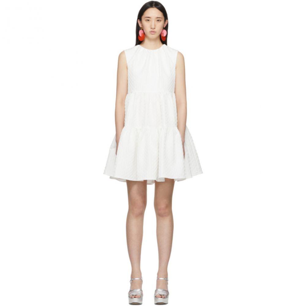 エムエスジーエム MSGM レディース ワンピース ワンピース・ドレス【White Ruffle A-Line Dress】White