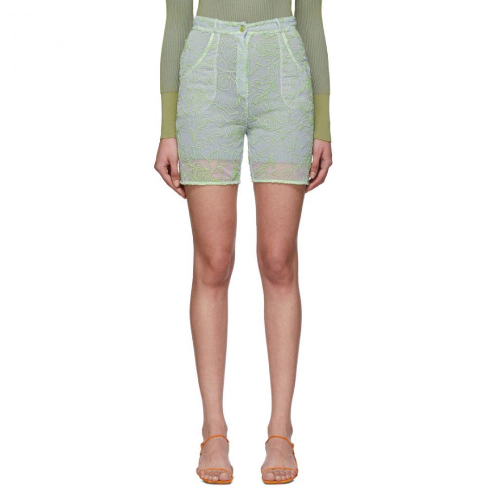 ジャックムス Jacquemus レディース ショートパンツ ボトムス・パンツ【Blue & Green 'Le Short Lavandou' Shorts】Blue/Green
