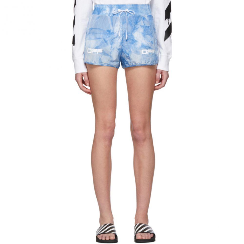 オフホワイト Off-White レディース ショートパンツ ボトムス・パンツ【Blue Tie-Dye Active Shorts】White