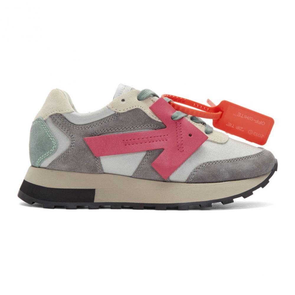 オフホワイト Off-White レディース ランニング・ウォーキング スニーカー シューズ・靴【Grey & Taupe HG Runner Sneakers】Grey/Fuchsia