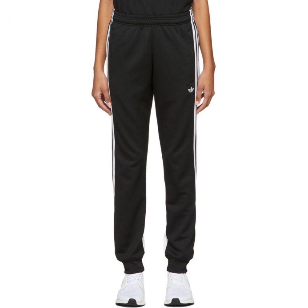 アディダス adidas Originals レディース ボトムス・パンツ ラップパンツ【Black 3-Stripe Wrap Lounge Pants】Black/White