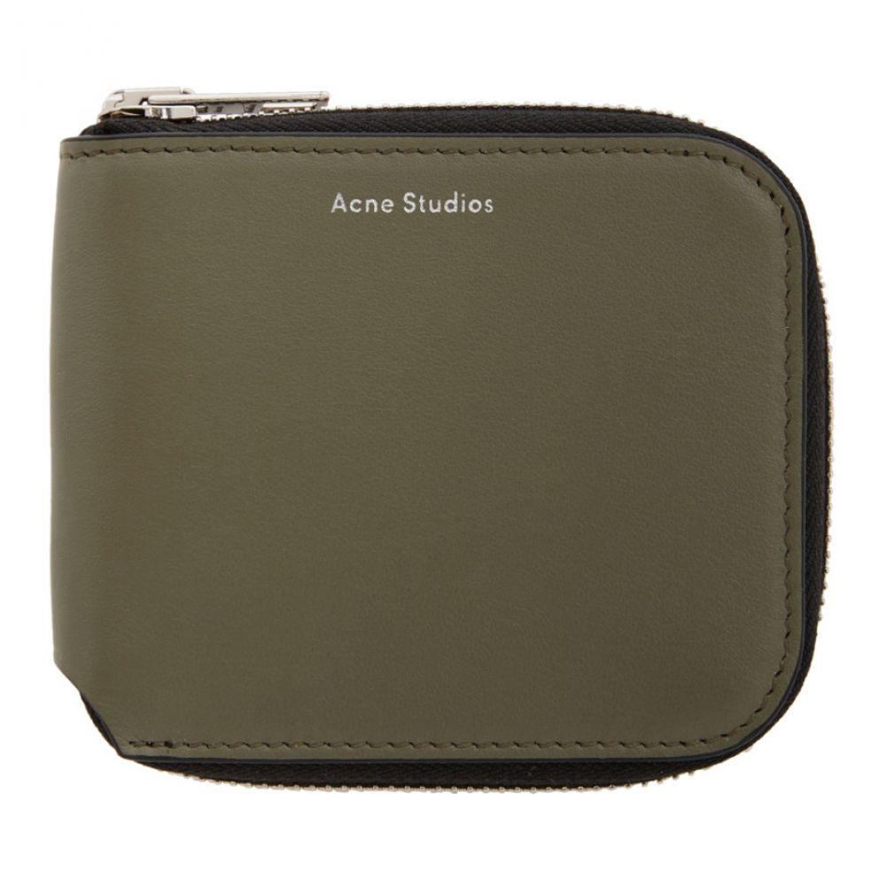 アクネ ストゥディオズ Acne Studios レディース 財布 【Green Kei Compact Wallet】Dark green