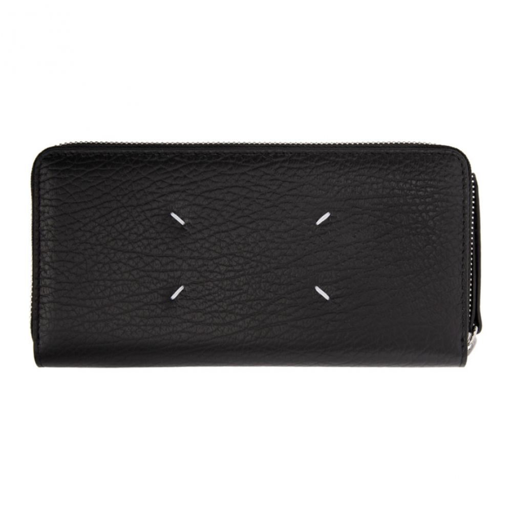 メゾン マルジェラ Maison Margiela レディース 財布 【Black Zip Around Wallet】Black