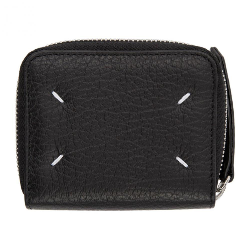 メゾン マルジェラ Maison Margiela レディース 財布 【Black Square Zip-Around Wallet】Black