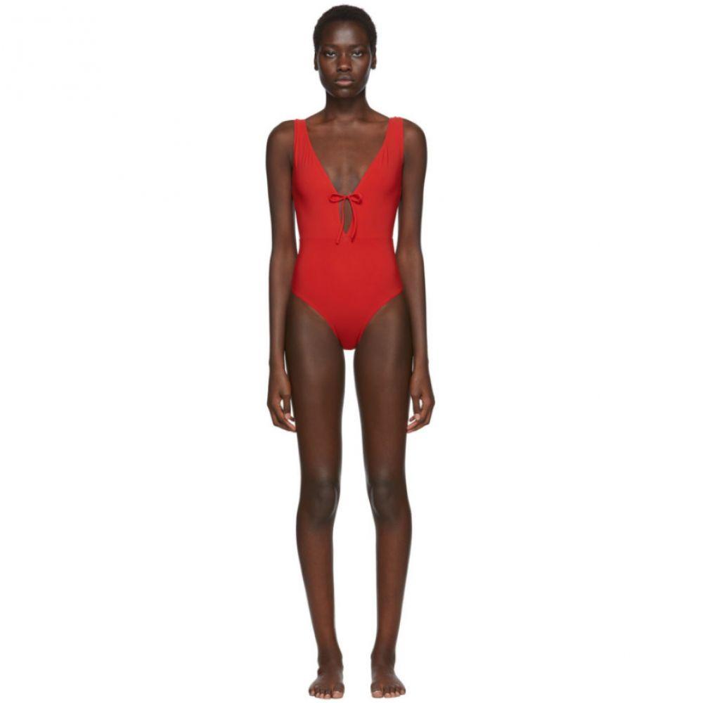 ルディ ガーンライヒ Rudi Gernreich レディース ワンピース 水着・ビーチウェア【Red Plunge One-Piece Swimsuit】Red