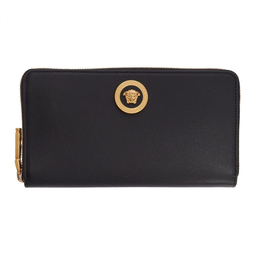ヴェルサーチ Versace レディース 財布 【Black Tribute Continental Wallet】Black