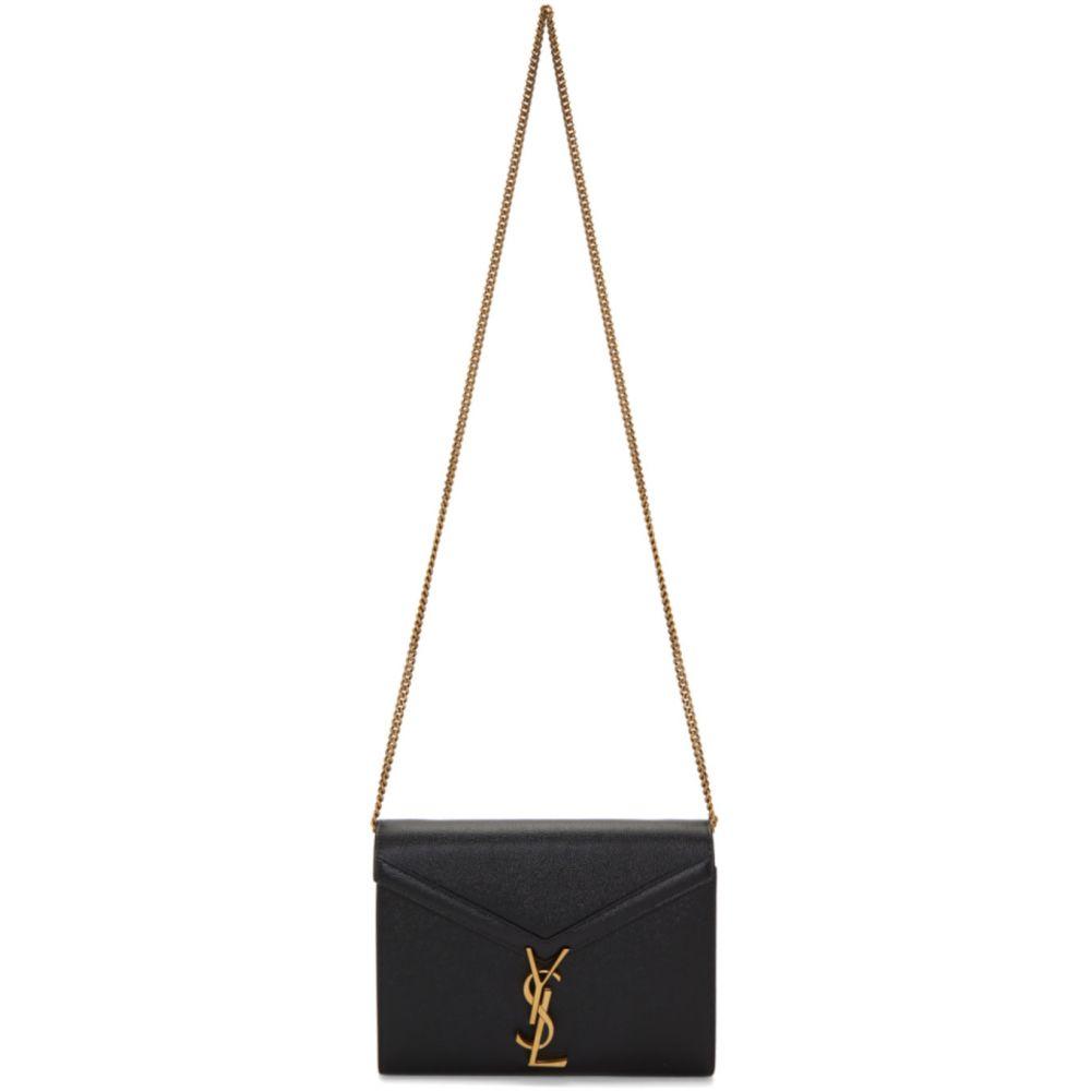 イヴ サンローラン レディース 新商品!新型 財布 時計 雑貨 Black Cassandra サイズ交換無料 Wallet Chain Saint Laurent 最新アイテム Bag