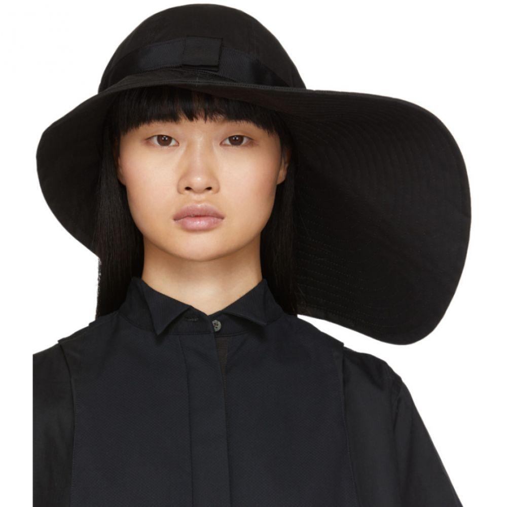 サカイ Sacai レディース ハット ブリムハット 帽子【Black Wide Brim Beach Hat】Black