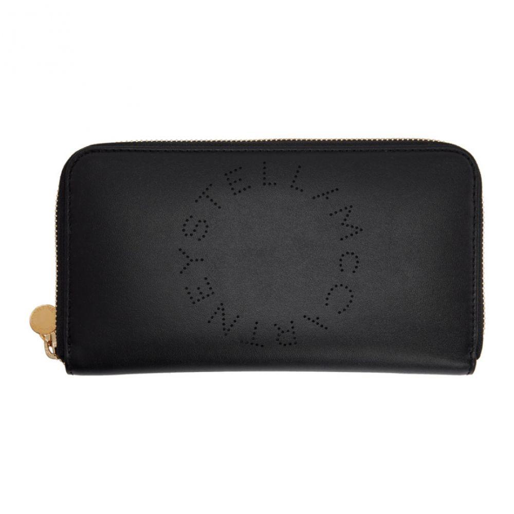 ステラ マッカートニー Stella McCartney レディース 財布 【Black Eco Soft Logo Zip Around Wallet】Black