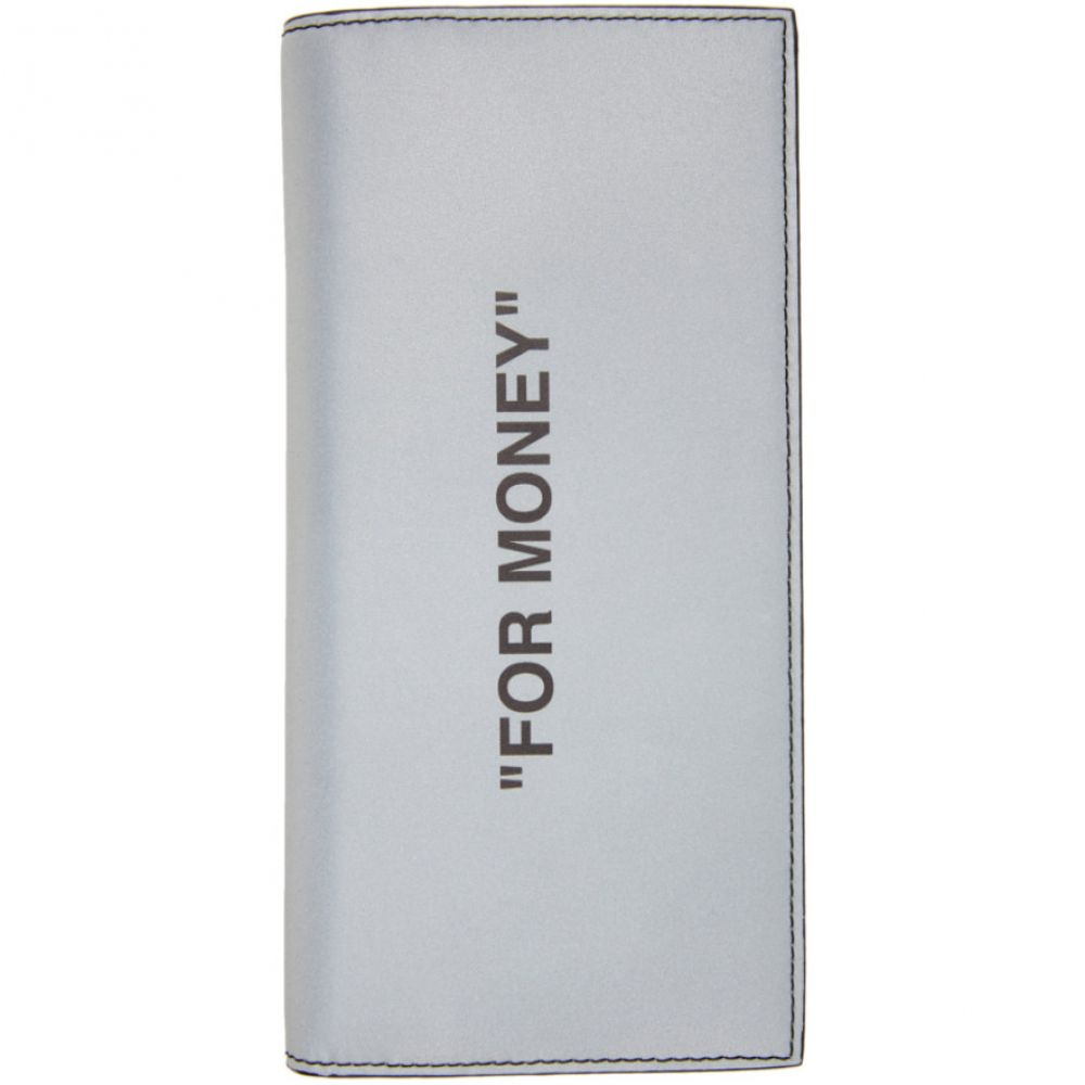 オフホワイト Off-White レディース 財布 【Silver Quote Yen Wallet】Silver/Black