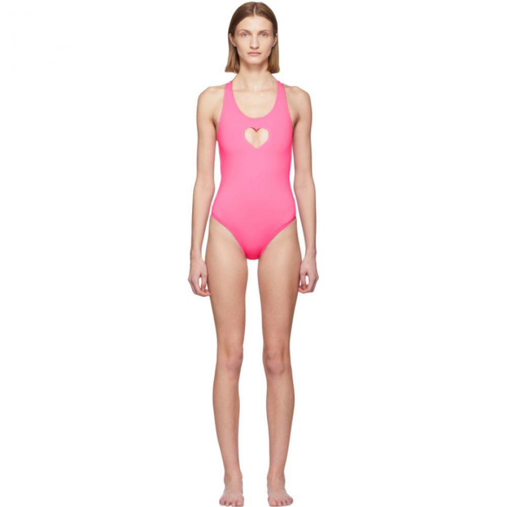 ヴェトモン VETEMENTS レディース ワンピース 水着・ビーチウェア【Pink Heart One-Piece Swimsuit】Pink