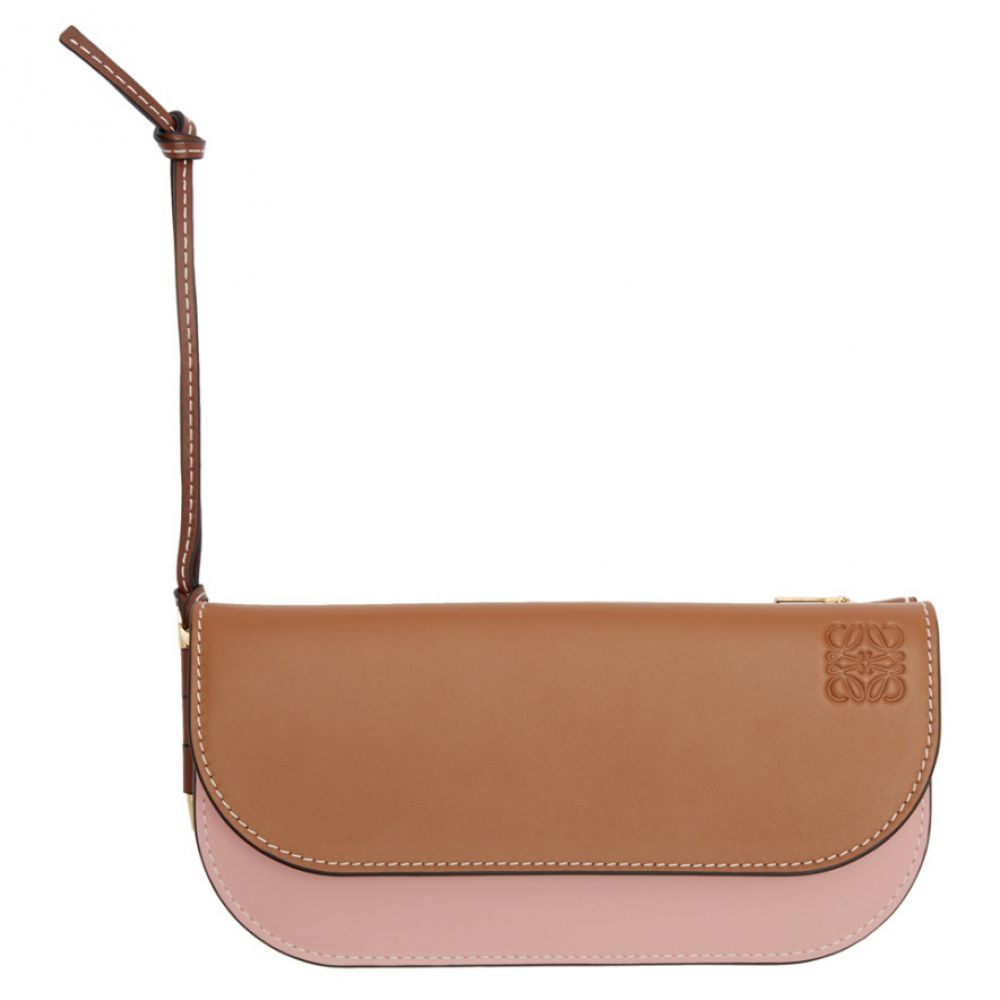 ロエベ Loewe レディース 財布 【Tan & Pink Gate Continental Wallet】Tan/Medium pink