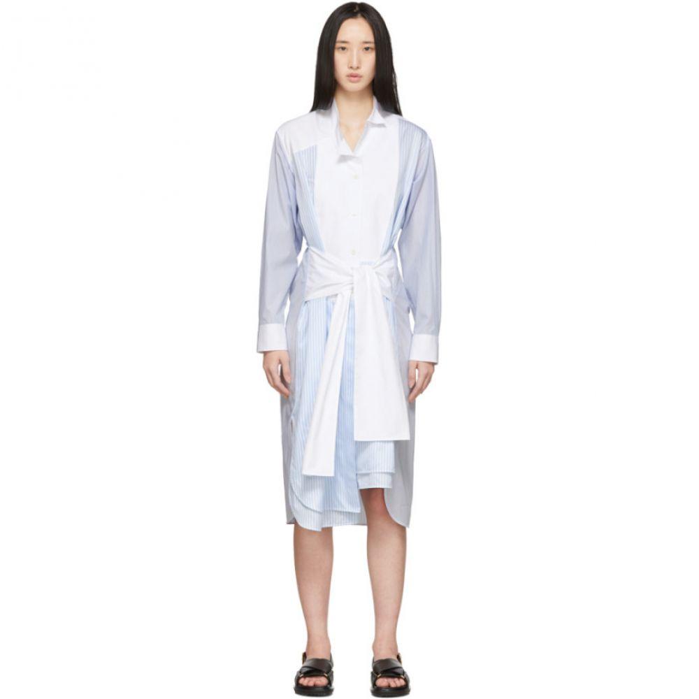 ロエベ Loewe レディース ワンピース シャツワンピース ワンピース・ドレス【Blue & White Striped Belted Shirt Dress】Blue/White
