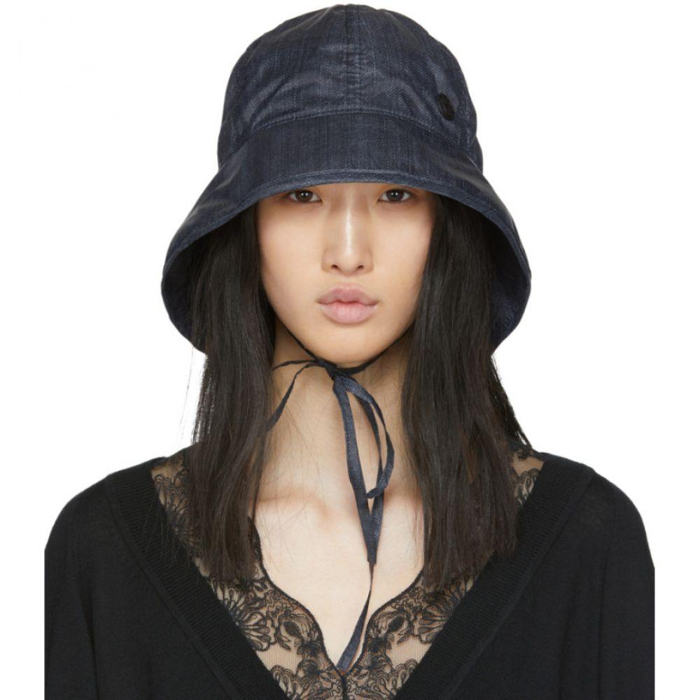 メゾンミッシェル Maison Michel レディース 帽子 【Navy Denim Effect Veronica Hat】Navy