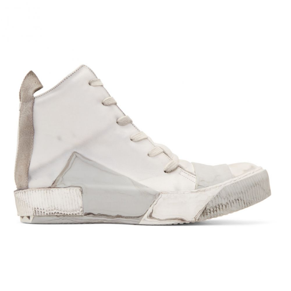 ボリス ビジャン サベリ Boris Bidjan Saberi メンズ スニーカー シューズ・靴【Grey Kangaroo High-Top Sneakers】Light grey