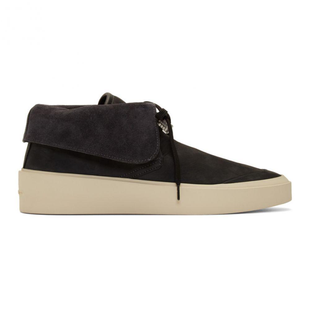 フィアオブゴッド Fear of God メンズ スニーカー シューズ・靴【Black Skate Low Sneakers】Black