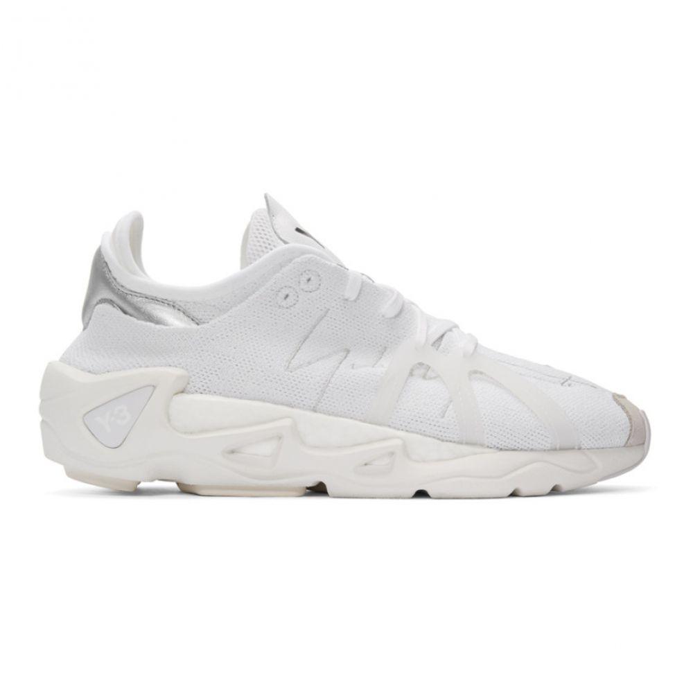 ワイスリー Y-3 メンズ スニーカー シューズ・靴【White FYW S-97 Sneakers】White/Black/Silver metallic