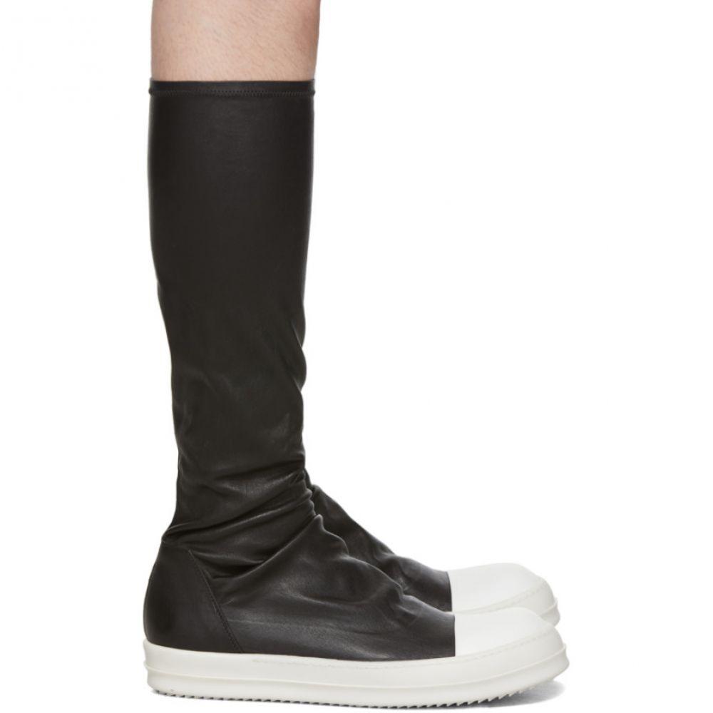 リック オウエンス Rick Owens メンズ スニーカー シューズ・靴【Black Stretch Knee Sneakers】Black