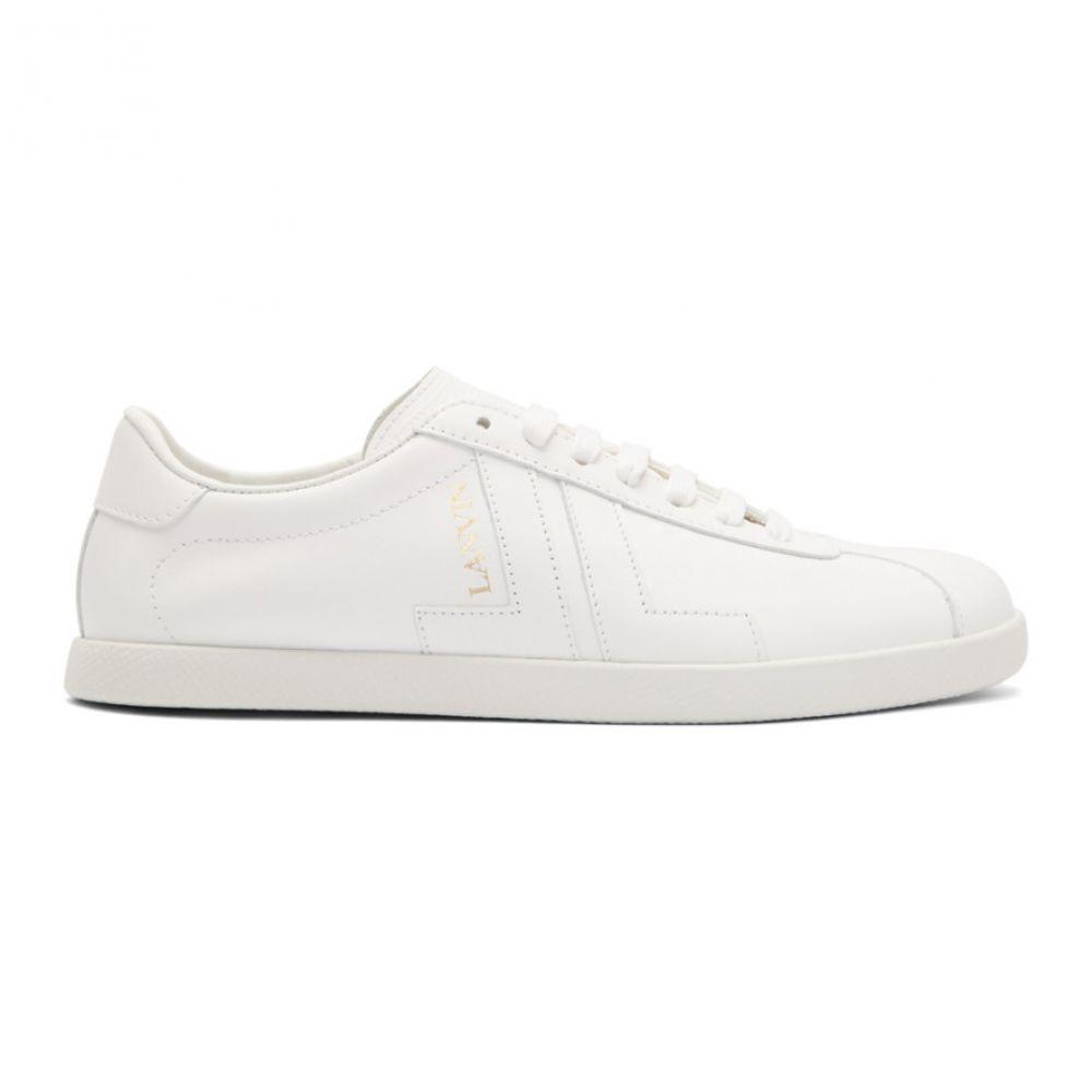ランバン Lanvin メンズ スニーカー シューズ・靴【White Glen Colorblock Sneakers】White