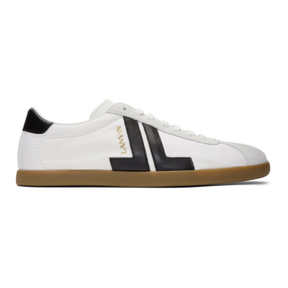 ランバン Lanvin メンズ スニーカー シューズ・靴【White Dual-Material JL Sneakers】White