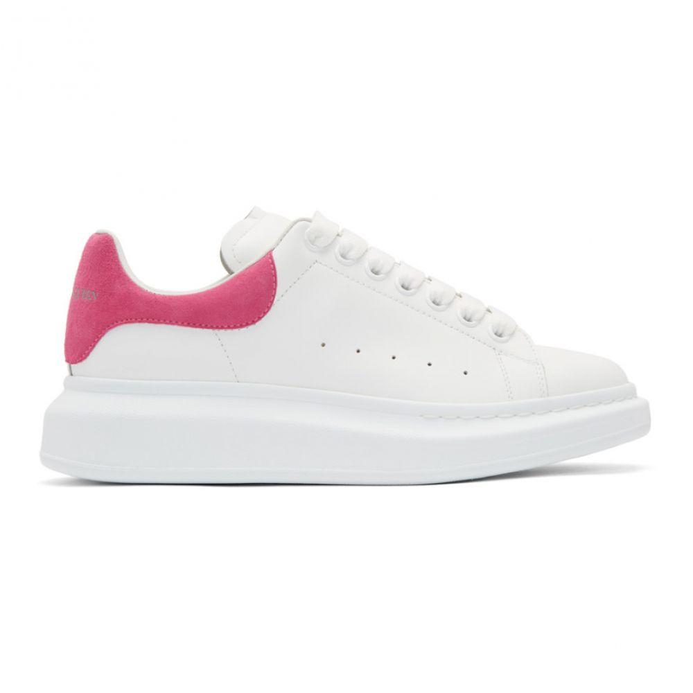 アレキサンダー マックイーン Alexander McQueen メンズ スニーカー シューズ・靴【White & Pink Oversized Sneakers】White/Fuchsia