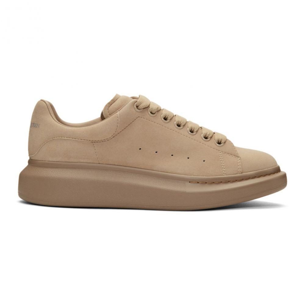 アレキサンダー マックイーン Alexander McQueen メンズ スニーカー シューズ・靴【Brown Daim Velour Oversized Sneakers】Brown