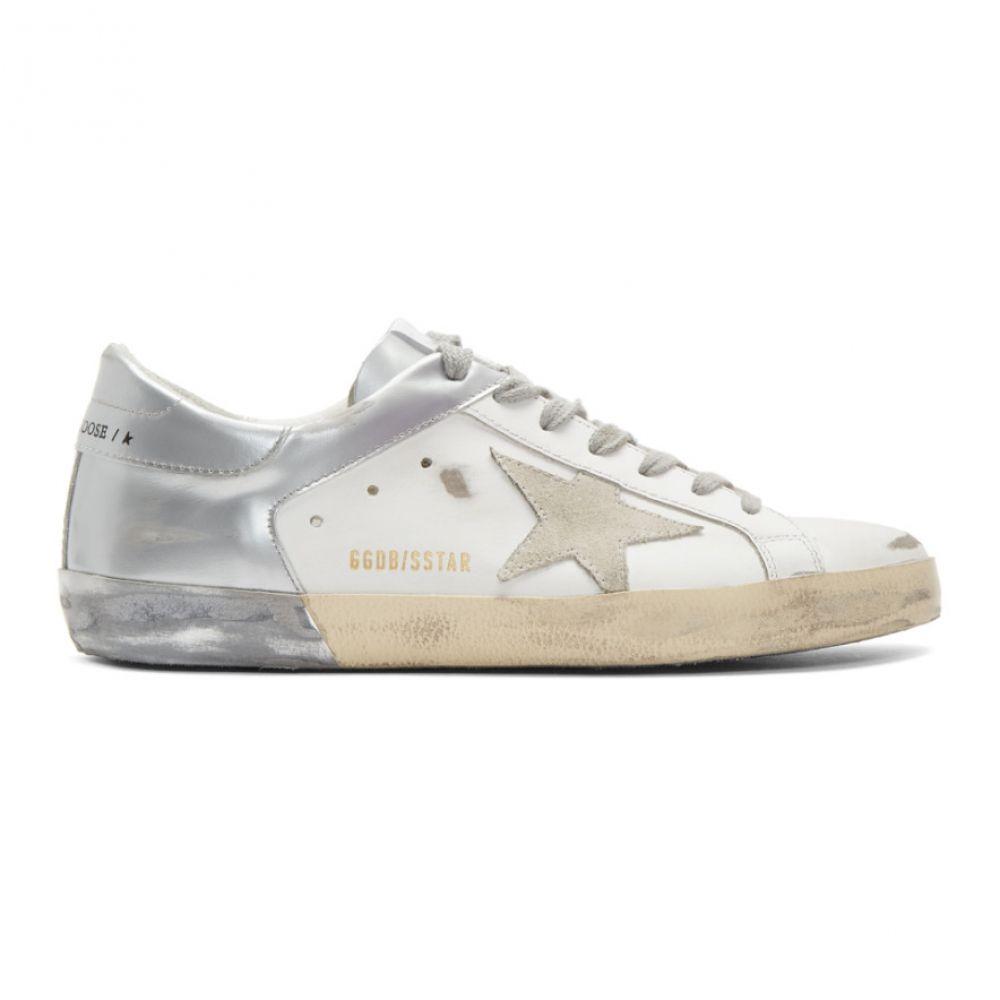 ゴールデン グース Golden Goose メンズ スニーカー シューズ・靴【White & Silver Superstar Sneakers】White/Silver