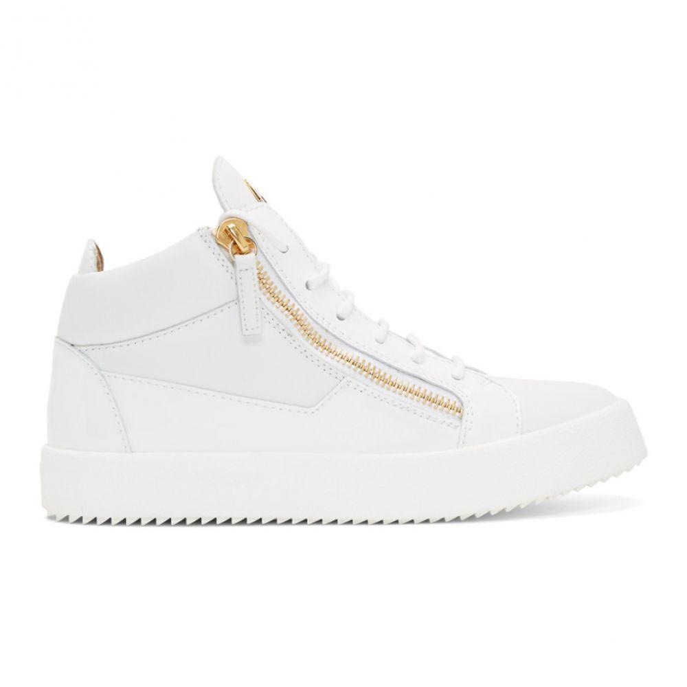 ジュゼッペ ザノッティ Giuseppe Zanotti メンズ スニーカー シューズ・靴【White Kriss High-Top Sneakers】Birel white