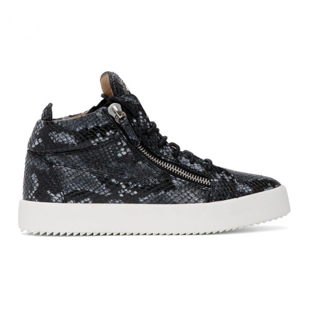 ジュゼッペ ザノッティ Giuseppe Zanotti メンズ スニーカー シューズ・靴【Grey Python May Kriss High Top Sneakers】