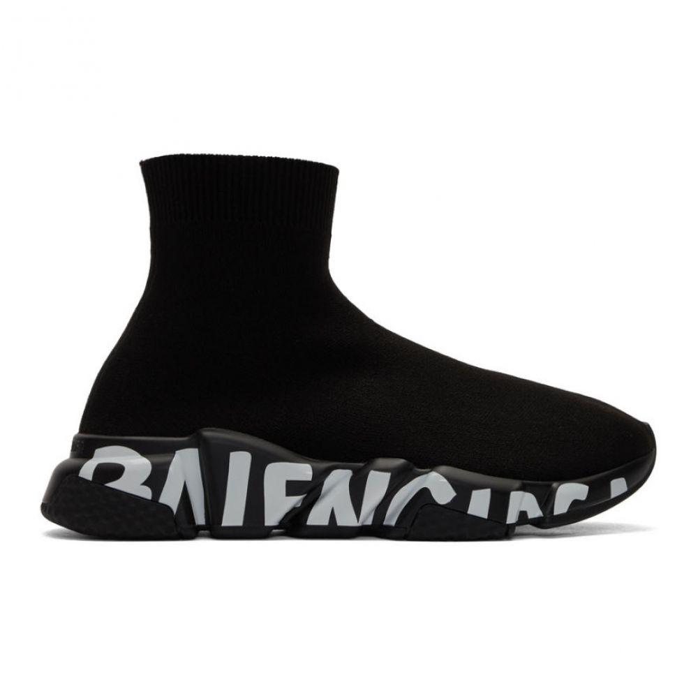 バレンシアガ Balenciaga メンズ スニーカー シューズ・靴【Black Graffiti Sole Speed Runner Sneakers】Black
