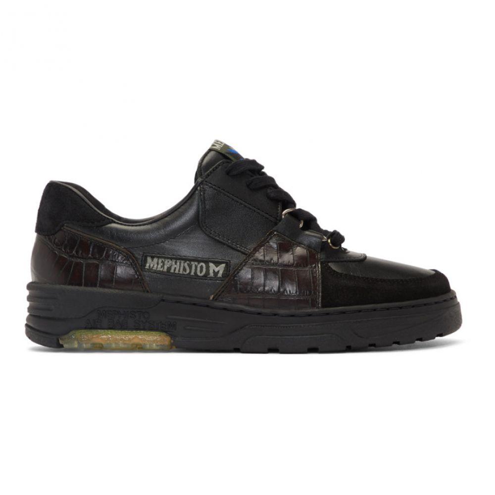 ジーアール ユニフォーマ GR-Uniforma メンズ スニーカー シューズ・靴【Black Mephisto Edition Hybrid Marek Sneakers】Black/Brown
